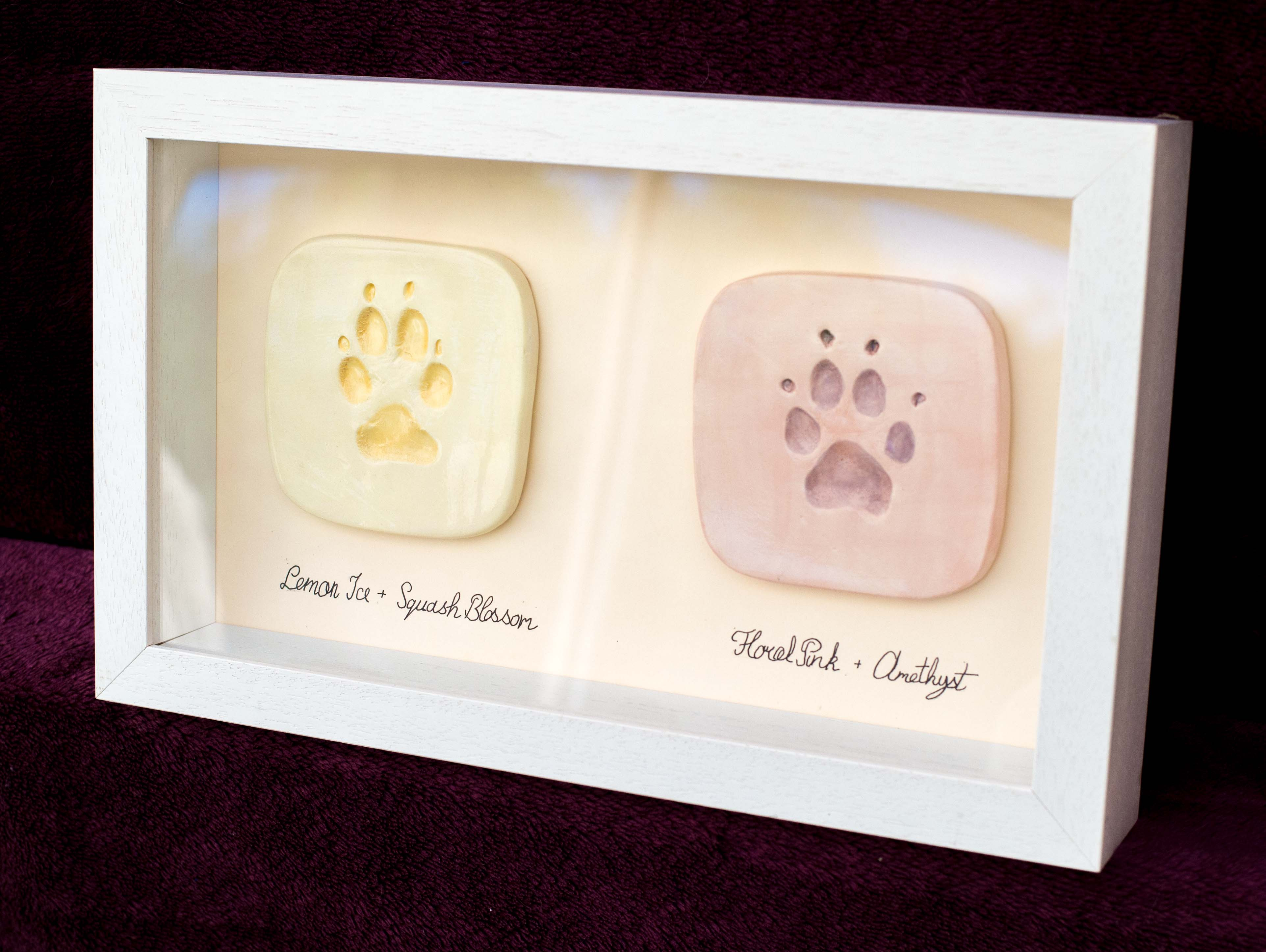 Ceramic Paw Prints X 2 Mounted Angelwood Lodge